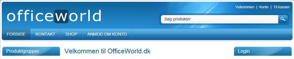 OfficeWorld.dk Alt i printerpatroner og tonerpatroner, kasseapparater og kontormaskiner